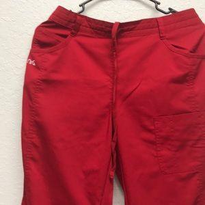 Drawstring Cargo Scrub Pants